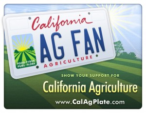 California Ag License Plate