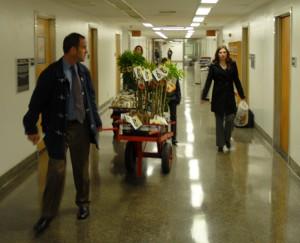 CDFA staff and Duarte Nursery representatives make the rounds in the Capitol.