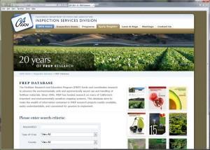 Image of FREP Database Site