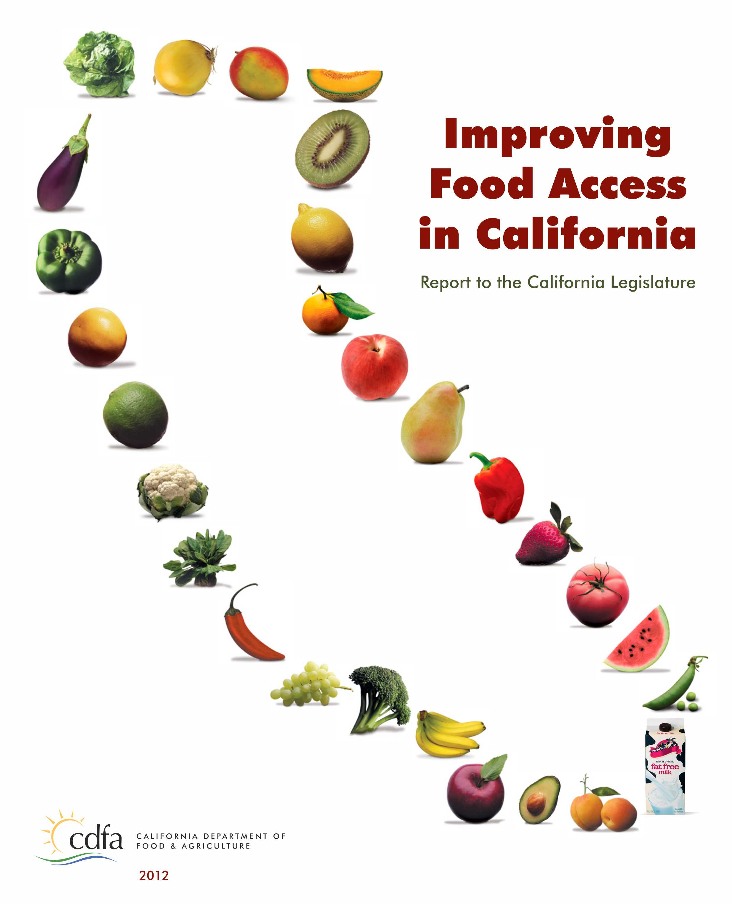 Report cover: Improving Food Access in California