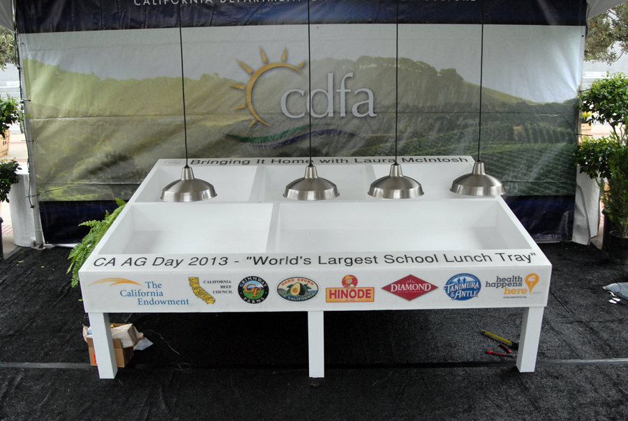 World's largest school lunch tray on display during Ag Day