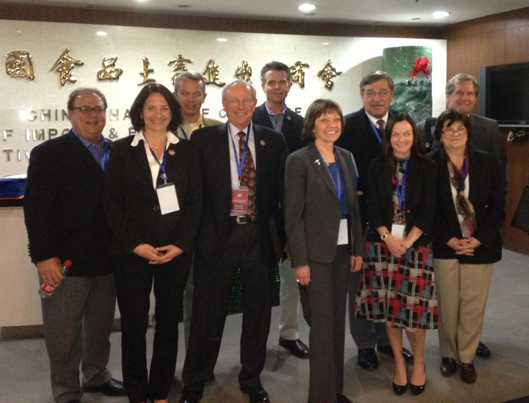 CDFA Secretary Karen Ross in Beijing with members of the California agriculture delegation on Governor Brown's trade mission to China