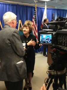 Secretary Ross with KNBC-TV reporter Patrick Healy
