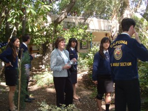CDFA Secretary Karen Ross at the farm at North Hollywood High School