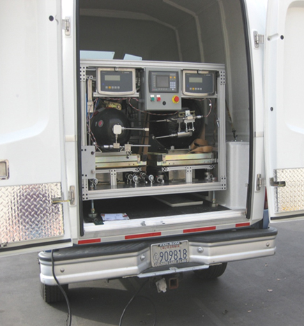 CDFA's Division of Measurement Standards uses a new mobile unit to  test hydrogen fuel dispensers.