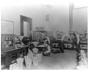 An impressive array of equipment in an early CDFA metrology lab (undated).
