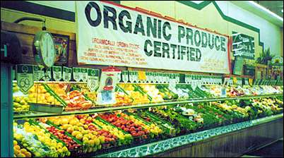 organic produce certified vegetables
