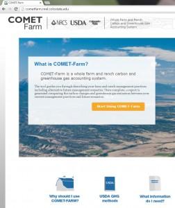 Comet Farm Home Page Website
