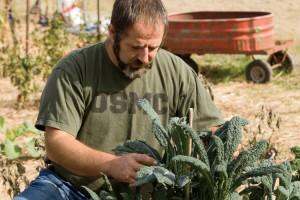 Ex marine Robert Elliott at Cypress Hall Farms in Louisburg, NC.