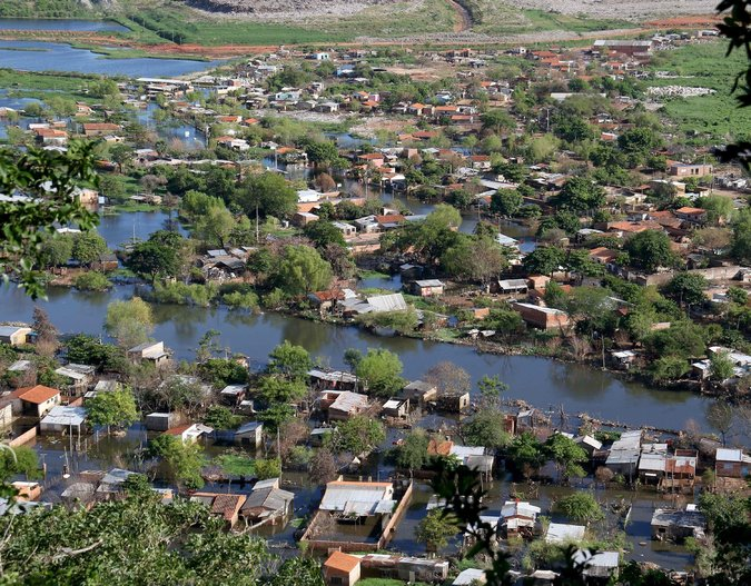 El Nino-related flooding in Paraguay.
