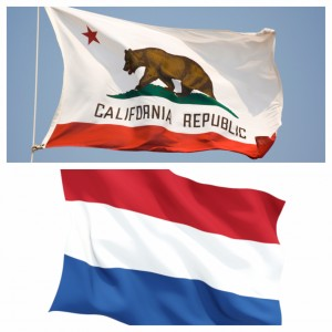 California State Flag and Netherlands Flag