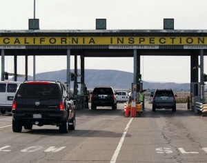 CDFA's Border Inspection Station along I-15 at Yermo.