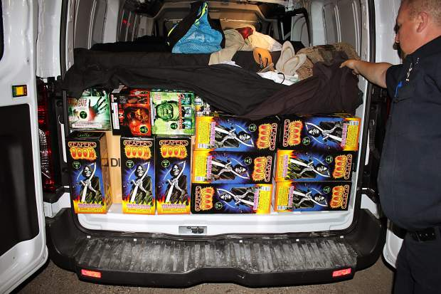Illegal fireworks confiscated this month at the Truckee Border Inspection Station