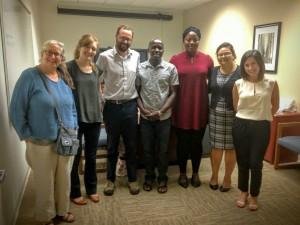 CDFA's Office of Environmental Farming hosted two visiting fellows. From left: Casey Walsh Cady, Katherine Filippini, Scott Weeks, James Kakeeto, Fatima Ademoh, Geetika Joshi and Carla Sanchez.