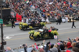 FTD provided flowers for vehicles carrying dignitaries such as the grand marshal.