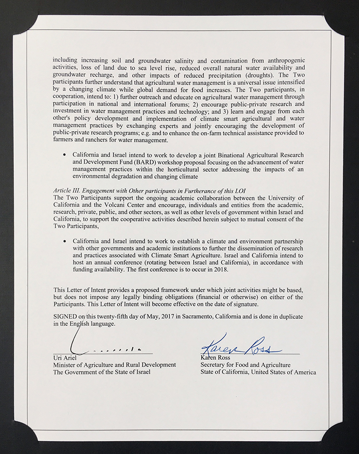 Letter of Intent on Agricultural Cooperation (page 2)