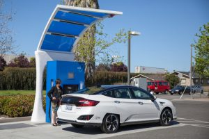 A hydrogen refueling station in Hayward