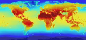 Heat map of the world