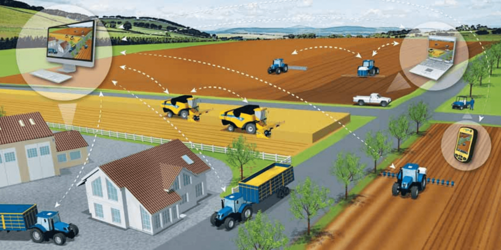 Using the internet of things, farms can better manage food waste. Image courtesy of New Holland.