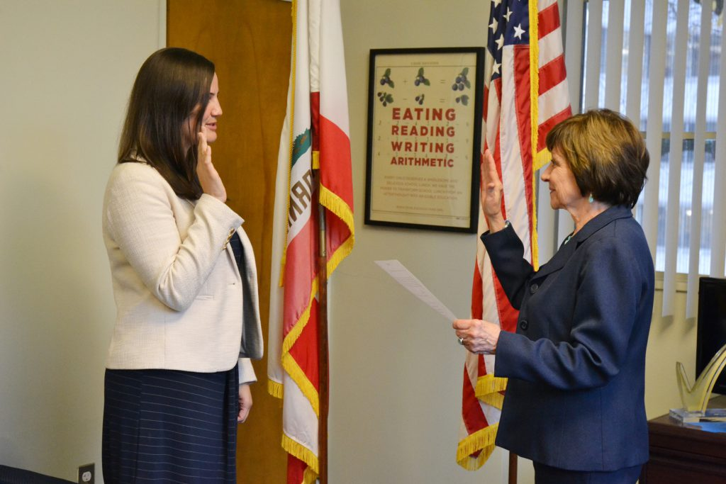 Secretary Ross presided over the swearing-in ceremony for Assistant Secretary O'Brien