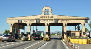 CDFA's Border Inspection Station at Blythe, along I-10 near the Arizona border.