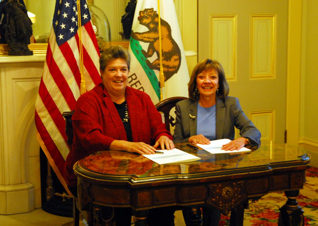 CDFA Secretary Karen Ross (right) and University of California Agriculture and Natural Resources Vice President Glenda Humiston
