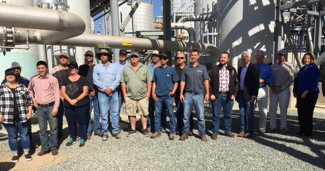 CDFA Undersecretary Jenny Lester Moffitt (right) joined a tour of the pipeline cluster facility.