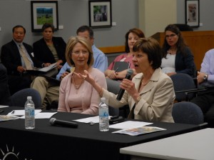 California Department of Food and Agriculture Secretary Karen Ross (right) and California Health and Human Services Agency Secretary Diana Dooley hosted a June 24 gathering of community-based food system organizations.