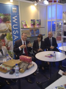 Secretary Ross with U.S. Ambassador to Singapore David Adelman