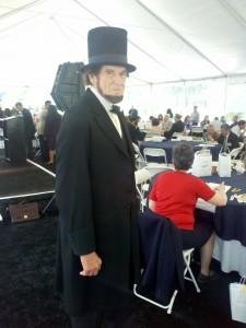 Roger Vincent of Santa Rosa portrays President Lincoln