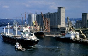 Ships in a port