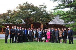 California Agricultural Trade Delegation with U.S. Ambassador Sung Kim outside the Ambassador's residence