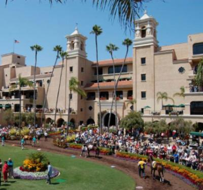 The racetrack at the Del Mar Fairgrounds in San Diego County.