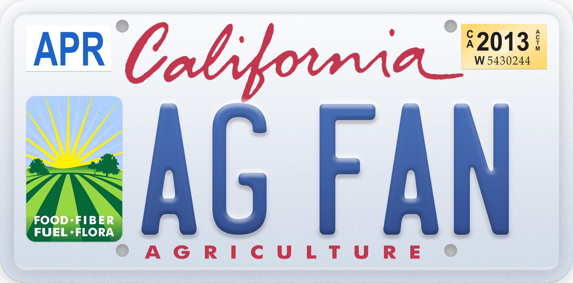 Agricultural license plate graphic