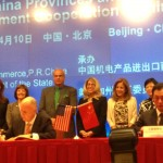 Governor Brown signing a trade agreement