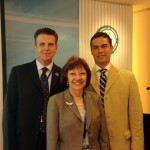 CDFA Secretary Karen Ross with Chris Rosander of the California Raisin Administrative Committee and US Agricultural Trade Office Director Jorge Sanchez