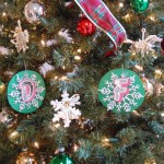CDFA spelled out in ornaments on the tree at the Center for Analytical Chemistry