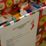 Donation box at CDFA for Edward Kemble Elementary School