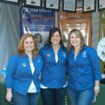Three Farm Bureau members pose during Ag Day