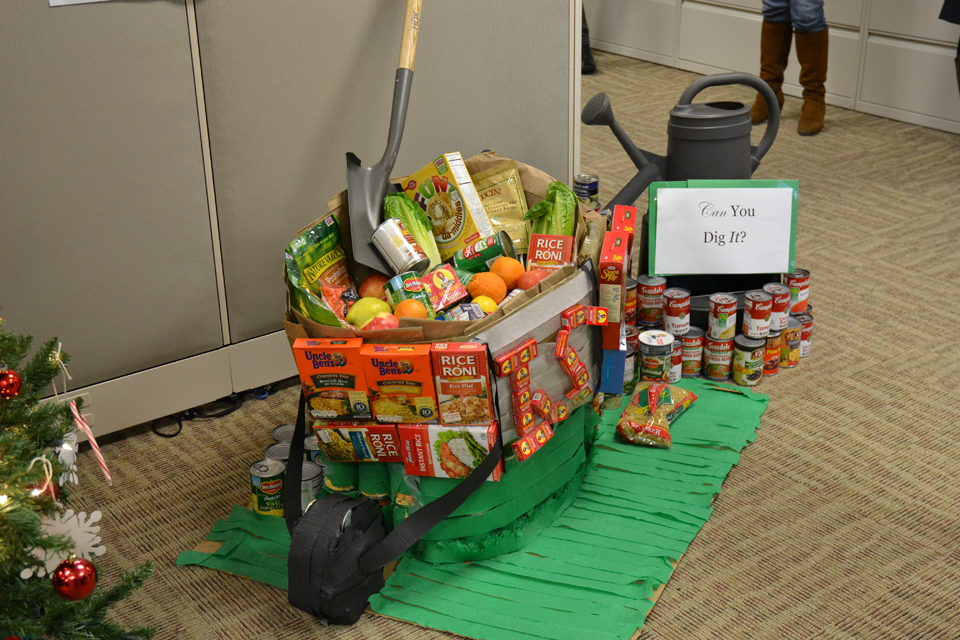 entry in the department's canned goods construction challenge.