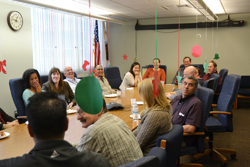 Employees of CDFA's Pest Exclusion office at headquarters gathered to celebrate the holidays
