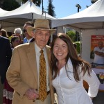 Former CDFA Director and perennial Ag Day supporter Richard Rominger with Sonya Logman of the California State Fair