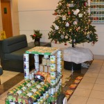 """A tractor made out of canned goods, entitled """"Can Creation"""""""