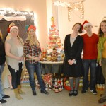 Animal Health and Food Safety Services staff poses with their display