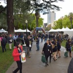 People gathered for Ag Day