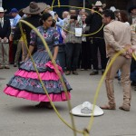 Dancers performing with a lasso