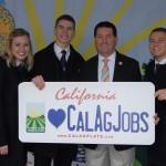 FFA members posing for the Cal Ag Plate program