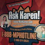 """USDA """"Ask Karen!"""" Meat & Poultry hotline graphic"""