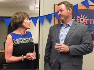 At a gathering of friends, family and colleagues, Secretary Ross expressed her appreciation for Undersecretary Jim Houston's service.