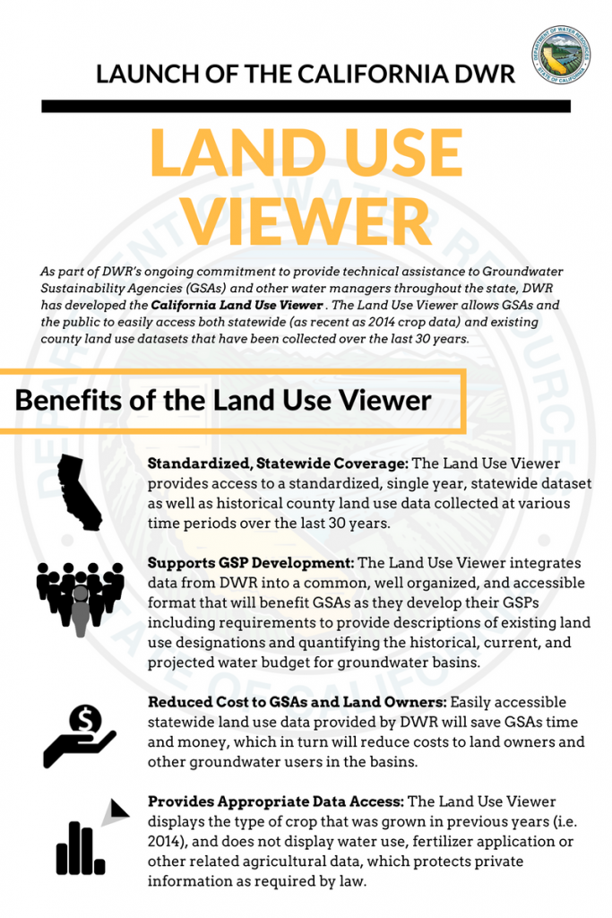 Launch of the California DWR - Land Use Viewer